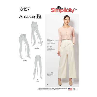 Womens Amazing Fit Trousers   Simplicity Sewing Pattern 8457