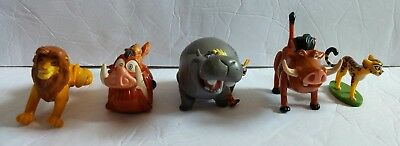 """Lot of 5 Disney Lion King & Lion Guard Action Cake Topper Figures 2""""-2 1/4"""" Tall"""