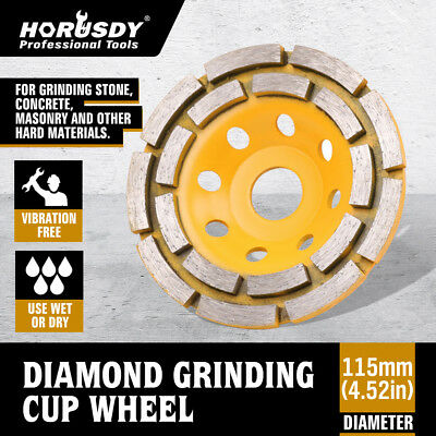 "4.5"" Grinding Cup Wheels Diamond Double Row Concrete 16 seg  Angle Grinder"
