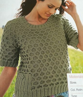 Knitted Summer Honeycomb Top Knitting Pattern