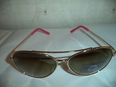 $150 Juicy Couture Authentic Aviator Gold/Pink NWOT Ladies Sunglasses