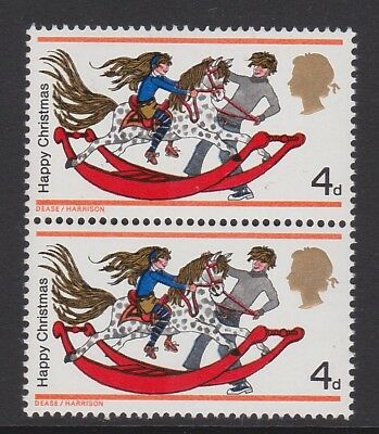 GREAT BRITAIN 1968 4d XMAS WITH 'RETOUCHED DAPPLES' SG W142f MNH.