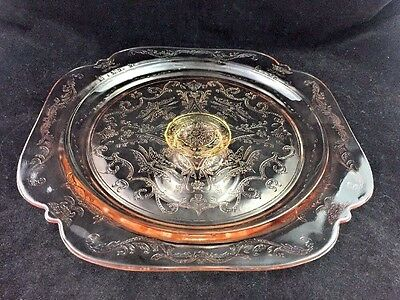 "Indiana Glass Pink Recollection (Madrid Reproduction) 10 3/8"" Footed Cake Stand"