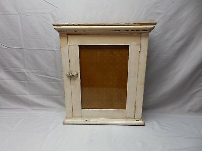 Antique Wood Surface Mount Medicine Cabinet Cupboard Shabby Bathroom Vtg 102-18P