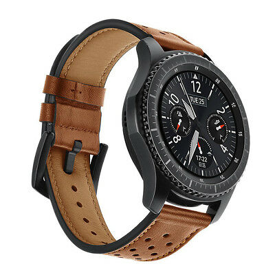 Genuine Leather Strap Watch Band For Samsung Gear S3 Frontier Classic 22mm