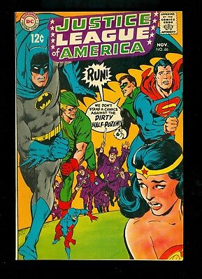 JUSTICE LEAGUE OF AMERICA #66 -- Sept 1968 -- NEAL ADAMS -- VF/NM Or Better