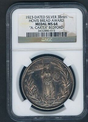 1923 Ngc Ms 64 Silver 38 Mm Hovis Bread Award A.carter Bedford