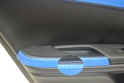 Rear Door Armrest Leather Synthetic Cover for Honda Civic 16-19 Black & Blue