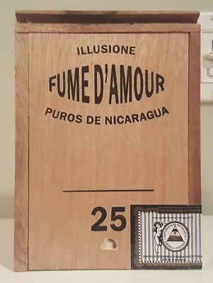Illusione Capistranos Fume D'amour All Wood Cigar Box Slide Top