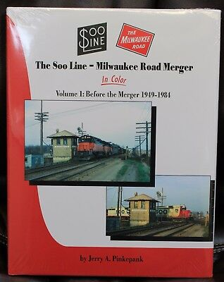 MORNING SUN BOOKS - SOO LINE - MILWAUKEE ROAD MERGER In Color Vol 1 HC 128 Pages