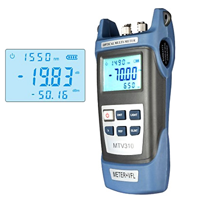 Battery Powered Fiber Optical Power Meter With Light Source SC FC ST Connector
