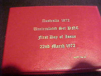 1972 Hutt Commemorative Australia Uncirculated 6 Coin Set Pnc 61 31 Of 200