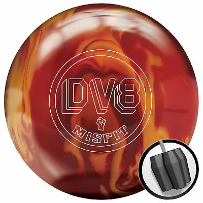 Bowling Ball DV8 Misfit neon red orange Reactive 15 lbs, Bowlingkugel Reaktiv