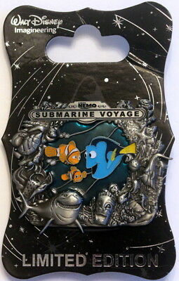 Finding Nemo Submachine Voyage - Wdi Stained Glass Attraction Pin - Disneyland