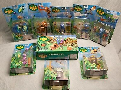 Lot A Bugs Life 9 Figures NIB Disney Pixar Flik Princess Atta Hopper Battle Bird