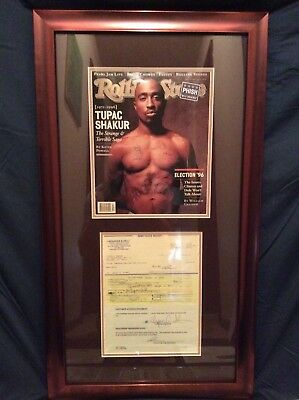 Tupac 2pac Shakur Signed Bill Of Sale Contract PSA/DNA & JSA Auto 13 Signatures!