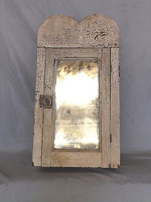 Antique Wood Surface Mount Medicine Cabinet Country Cupboard Cottage Vtg 108-18P