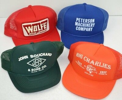 Vintage Lot of 4 Mesh Back TRUCKER HATS Miscellaneous Advertising Nashville NOS