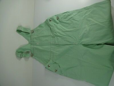 VTG - GAP girls Size XXL Minty Mint Green Cotton Overalls - Pre Owned