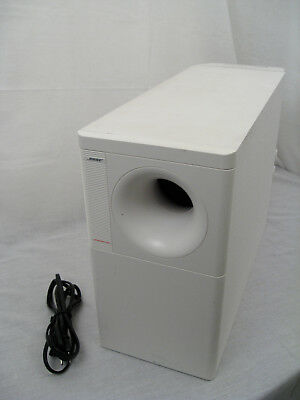 White Bose Acoustimass 25 Series II Subwoofer Lifestyle 12 25 Model 5 20 13 Pin