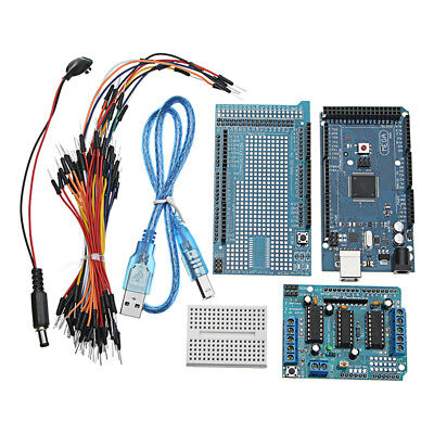MEGA2560 R3 Microcontroller With Prototype Board + L293D Motor Drive Shield For