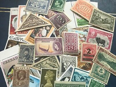 """""""MINT"""" Gb Commonwealth / World Stamps, Unsorted,mix of old/early/modern #lot 54"""