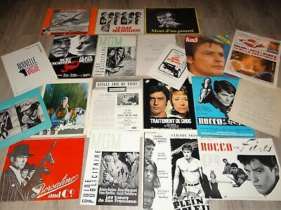 alain delon rare lot 30 scenarios presse cinema