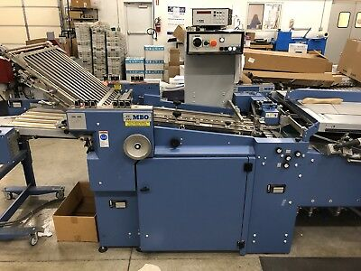 MBO Folder With Continuous Feed, Right Angle Fold
