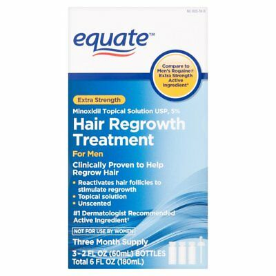 Equate - Hair Regrowth Treatment for Men with Minoxidil 5% Extra Strength, 3 Ct