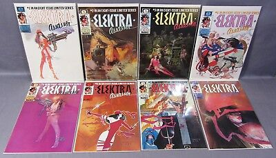 ELEKTRA ASSASSIN #1 2 3 4 5 6 7 8 (Full Run) VF/NM to NM- Marvel Comic Epic 1986