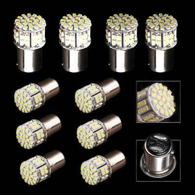 10x HID White 1157 50SMD LED Tail Brake Stop Backup Reverse Light Bulbs 1152 12V