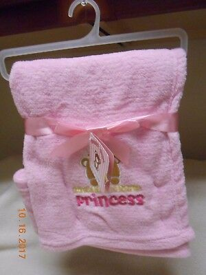 Honey Baby cute pink Daddy's little Princess ultra soft blanket Valentine's Gift
