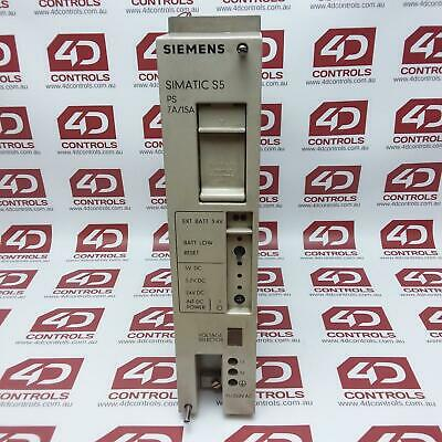 Siemens 6ES5951-7LD12 Simatic Power Supply, 115/220VAC, 7/15A - Used