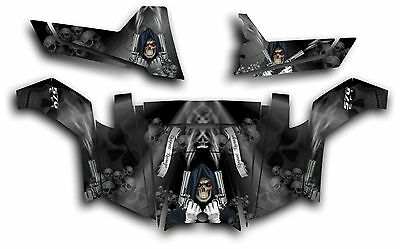 Yamaha Viking UTV Graphics Hood Decal 2014 Grim Reaper Revenge Blue
