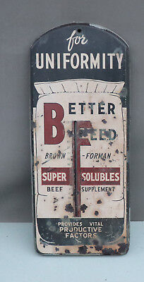 Old Brown Forman FEED BAG Thermometer   Louisville Farm