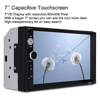 """7010B 7"""" Car Touch Screen MP5 Player Stereo Radio Bluetooth Camera"""