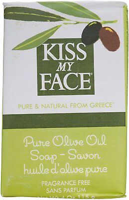 Pure Olive Oil Bar Soap, Kiss My Face, 4 oz