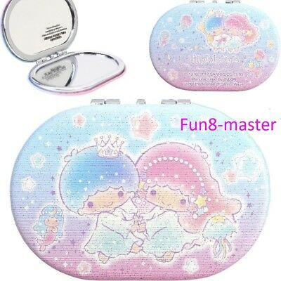 Little Twin Stars 2x Magnification 2 Sided Compact Mirror Makeup Bag Portable
