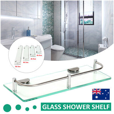 Corner Holder Rectangle Shelf 28.5-58.5cm Wall Mounted Bathroom Shower Storage