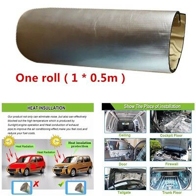 Professional Acoustic Sound Proofing Deadening Foam Self-adhesive 10mm 1*0.5m
