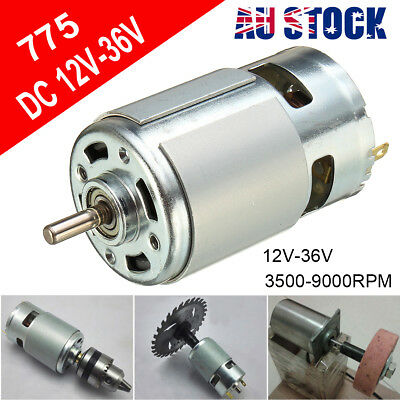DC 12V-36V High Power Motor Ball Bearing Large Torque Low Noise 775 3500-9000RPM