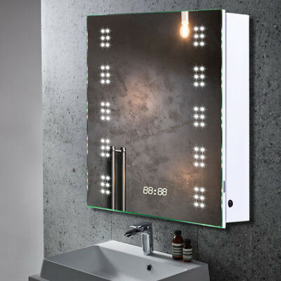 led illuminated bathroom mirror cabinet 60 led illuminated bathroom mirror cabinet demister shaver 23663