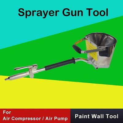 4 Jet Cement Mortar Spray Gun Sprayer Hopper Concrete Stucco Paint Wall Tool G