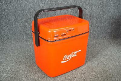 "Coca-Cola Plastic Cooler Radio In Box 9.5"" Tall Battery Operated"