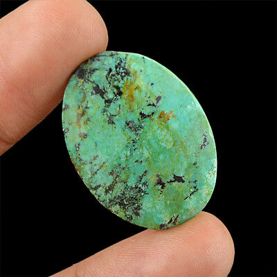 Best Quality 15.50 Cts Natural Untreated Oval Checkered Cut Turquoise Gemstone