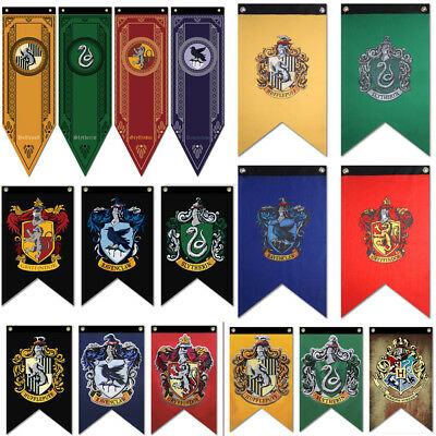 Harry Potter Gryffindor Slytherin Ravenclaw Hogwarts Haus Wand Banner Flagge
