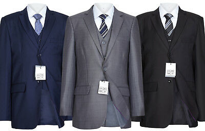 Boys Finest Slim Fit Navy ,Grey ,Black Suit 1 to 15 year RRP 59.99. Free P&P