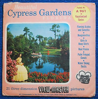 Beautiful Cypress Gardens 3-reel Set A961 - Sawyers View-Master S4