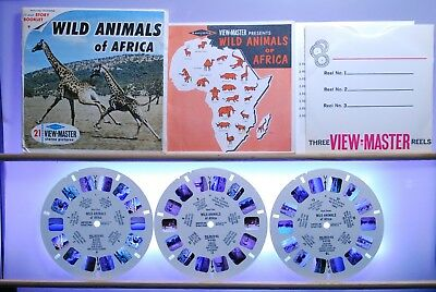 Wild Animals of Africa Set B618 - Sawyers S6b ed. A View-Master - 12-page book