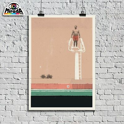 POSTER BILL MURRAY Wes Anderson Herman's High Dive MINIMALIST TUFFO ARTEGRAPHICS